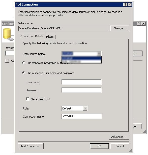 Oracle дата бааз руу холбох тохиргоо